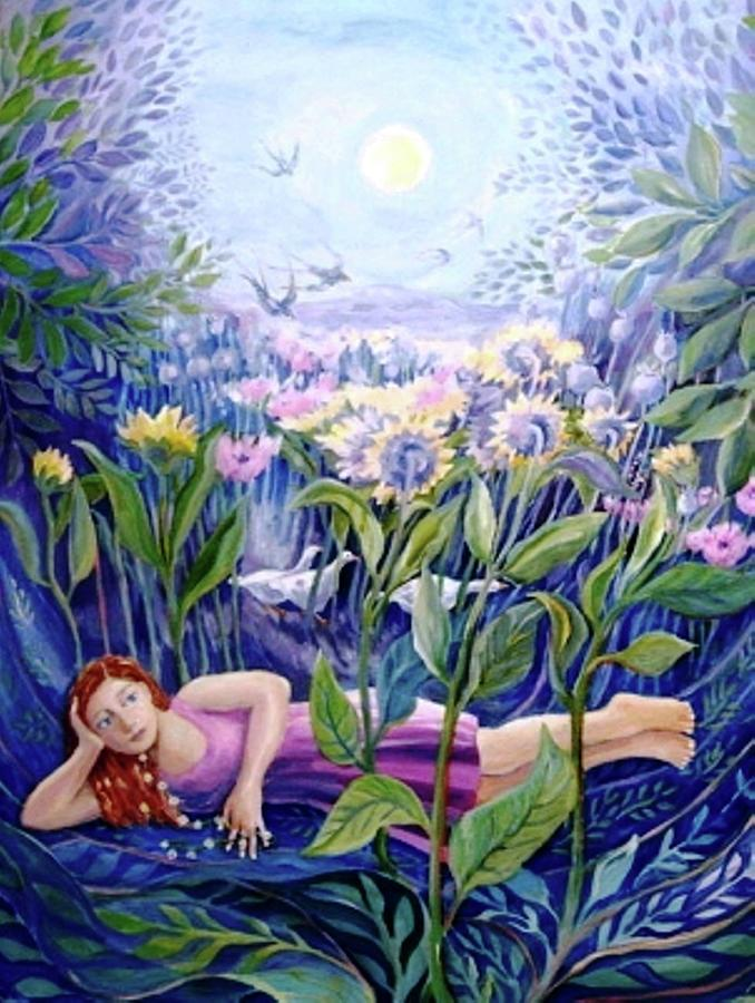 Daisy Chain Painting - Daisy Chain by Trudi Doyle