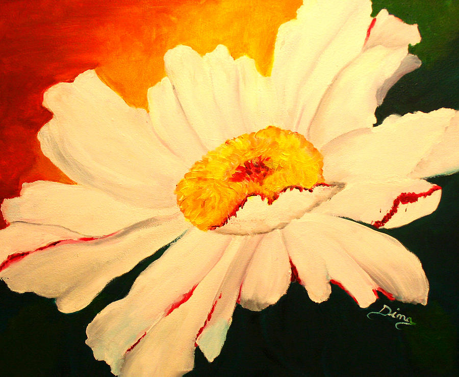 Painting Painting - Daisy by Dina Jacobs