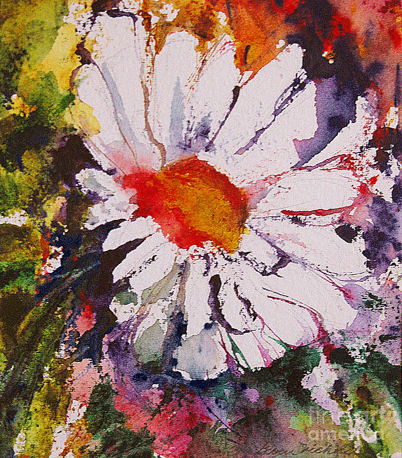Watercolor Painting - Daisy by Gwen Nichols