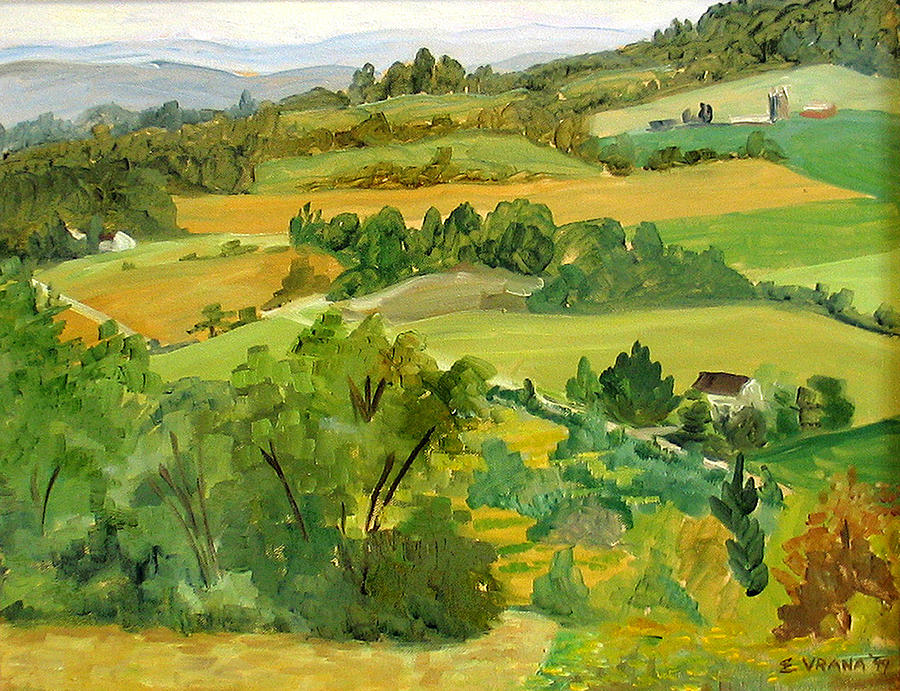 Dryden Painting - Daisy Hollow Dryden New York by Ethel Vrana