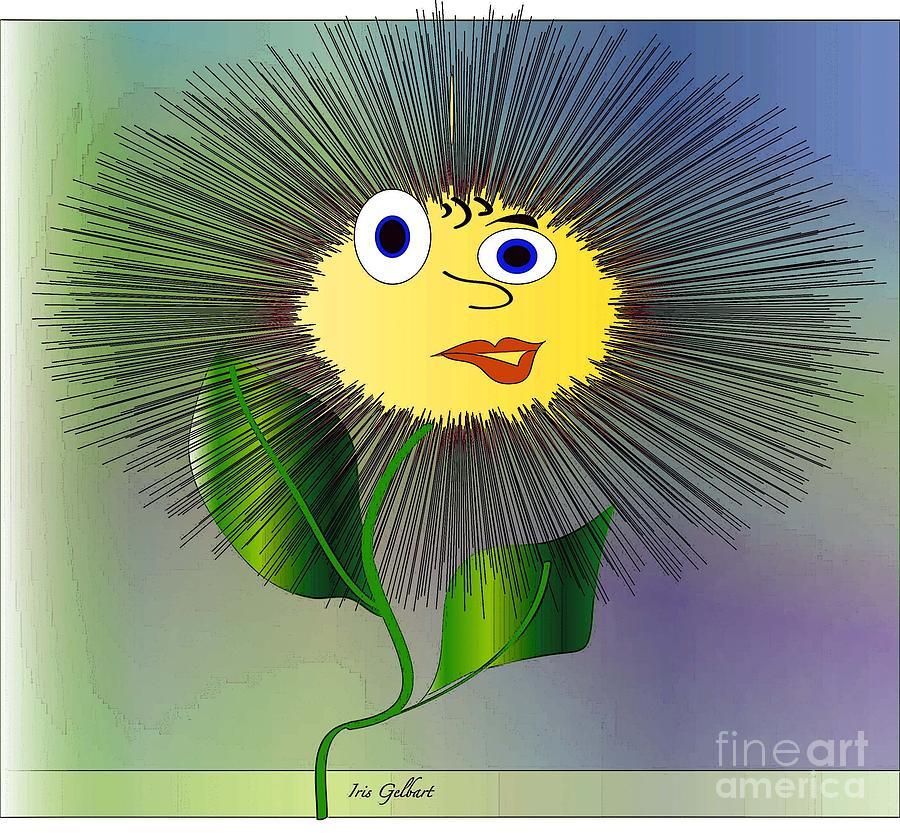 Abstract Flower Digital Art - Daisy May by Iris Gelbart