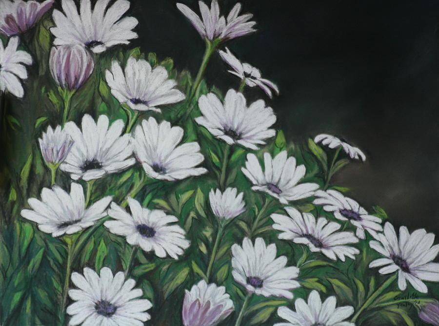 Flower Painting - Daisy Mum by Charlotte Yealey