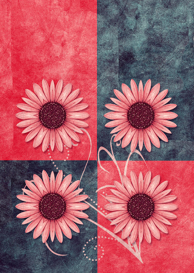 Daisy Digital Art - Daisy Quatro V13b by Variance Collections