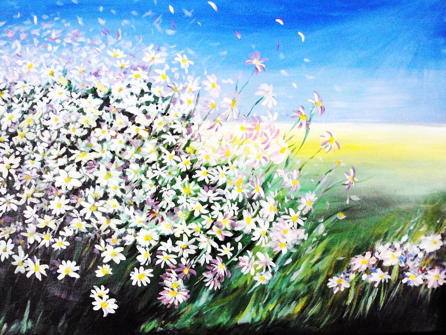 Daisy Painting - Daisy by Svetlana Semenova