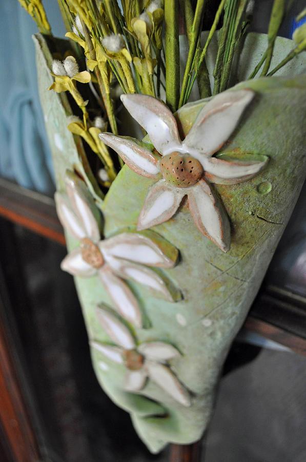 Daisy Sculpture - Daisy Wall Door Vase  by Amanda  Sanford