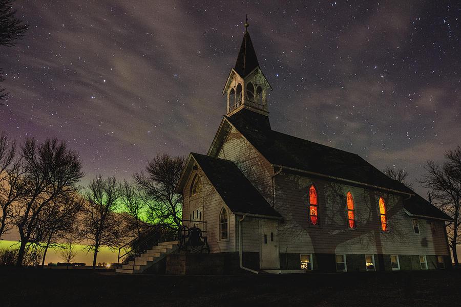 Northern Lights Photograph - Dakota Territory Aurora  by Aaron J Groen