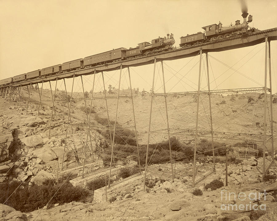 Engineering Photograph - Dale Creek Bridge Union Pacific by Getty Research Institute