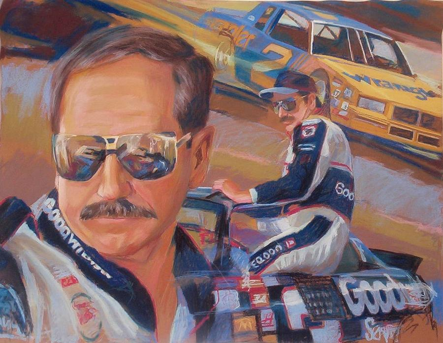 Racing Nascar Automotive Dale Painting - Dale by Martin Deem