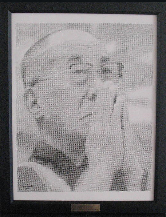 Mosaic Mixed Media - Dalai Lama by Jim Stevens
