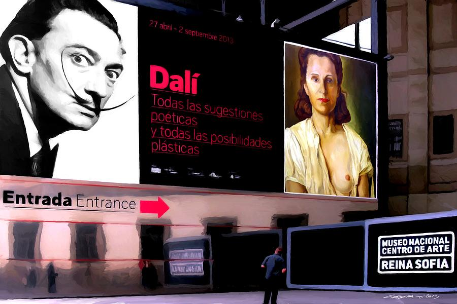 Dali Digital Art - Dali Tribute - Exhibition 2013 Reina Sofia Museum by Gabriel T Toro