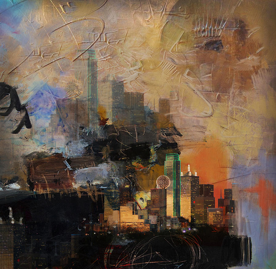 San Antonio Painting - Dallas Abstract 002 by Corporate Art Task Force