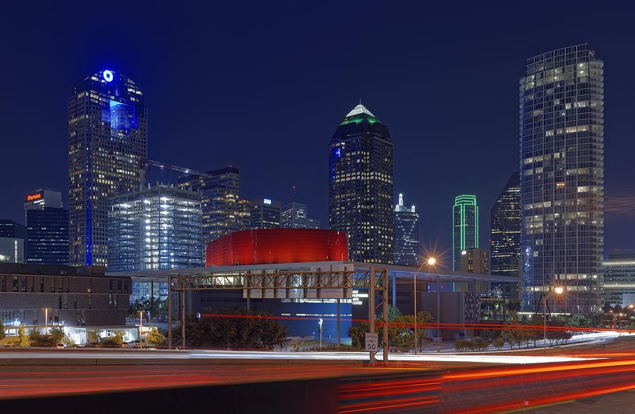 Dallas Arts District At Night Hd Photograph