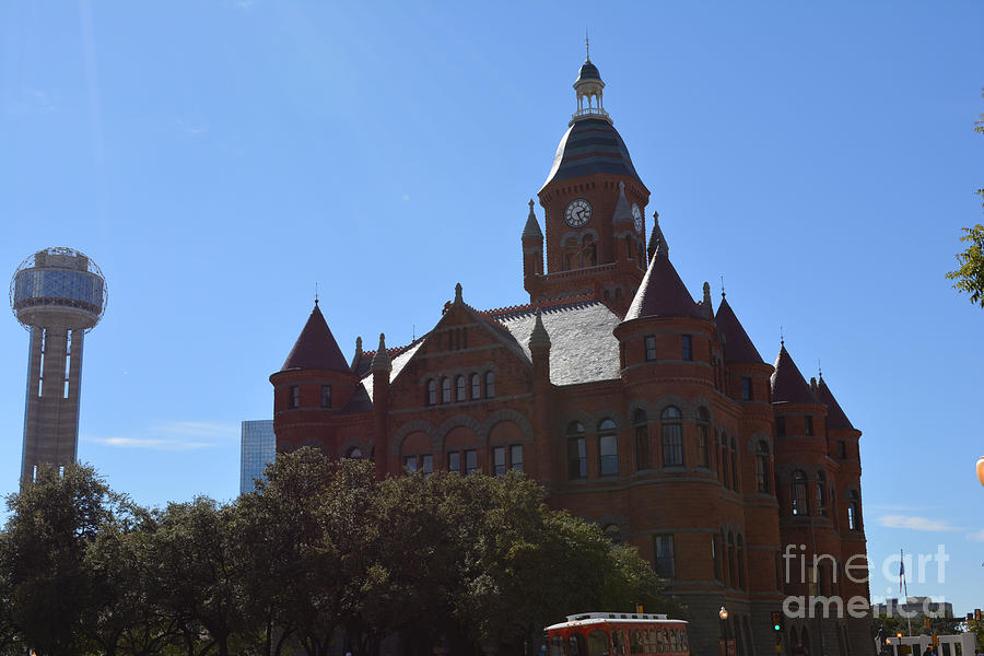 Dallas County Courthouse And Reunion Tower Photograph by Ruth  Housley