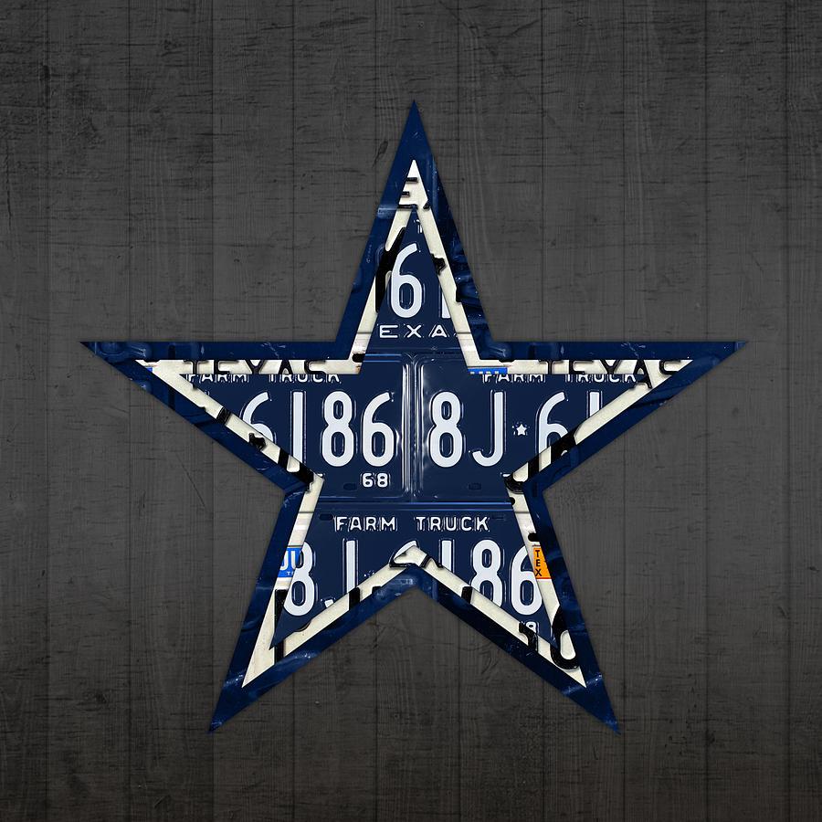 Dallas cowboys football team retro logo texas license plate art dallas mixed media dallas cowboys football team retro logo texas license plate art by design kristyandbryce Choice Image