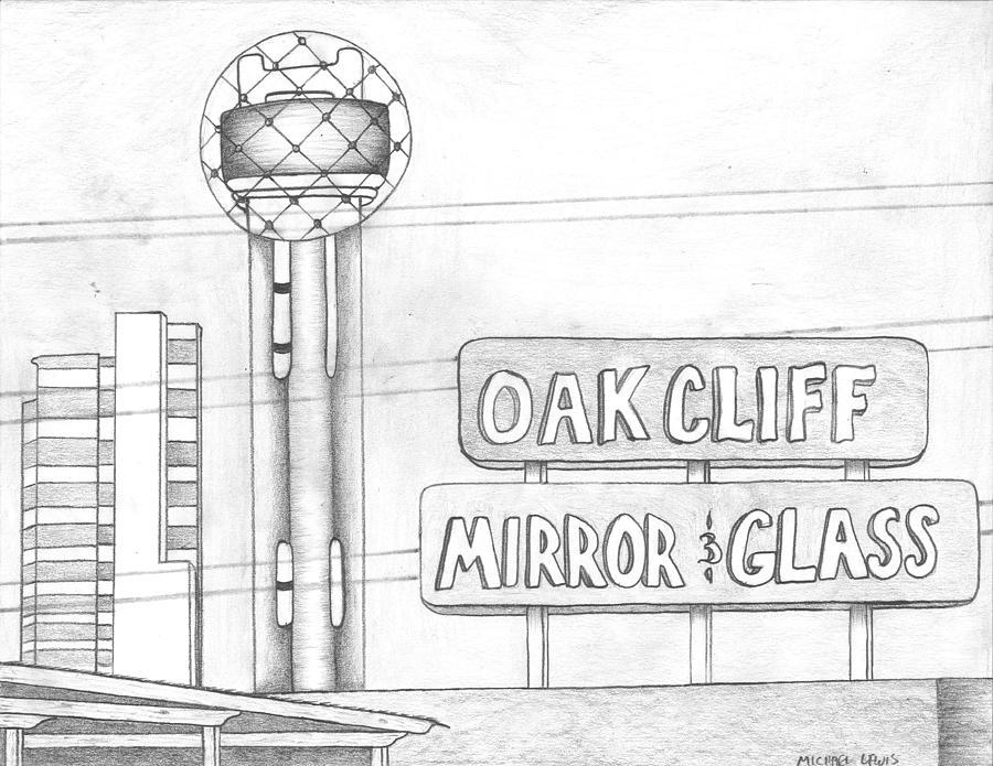 Dallas Drawing - Dallas by Michael Lewis