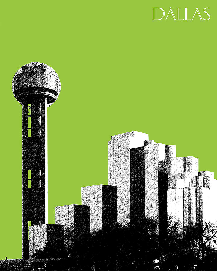 Architecture Photograph - Dallas Reunion Tower by DB Artist