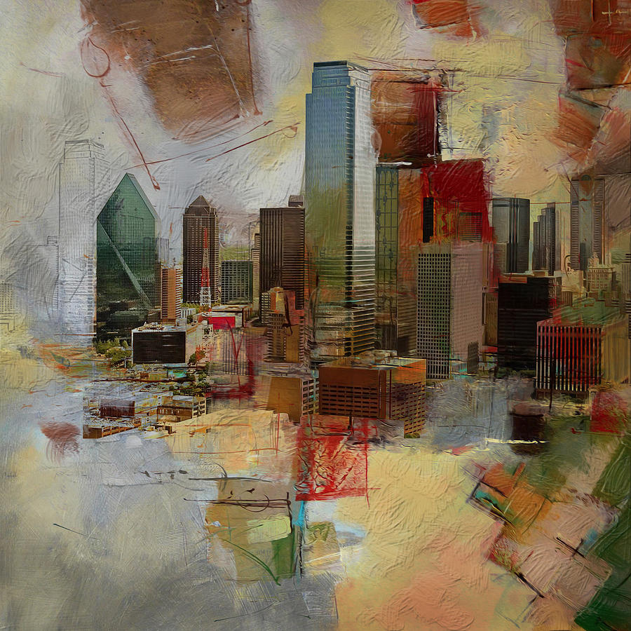 Dallas Skyline 003 Painting By Corporate Art Task Force