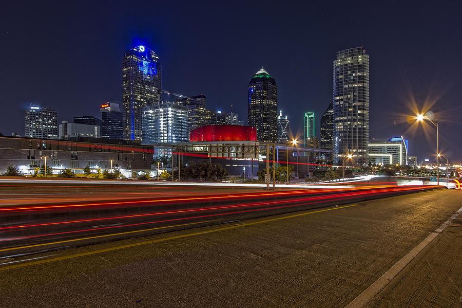 Dallas Skyline At Night Photograph