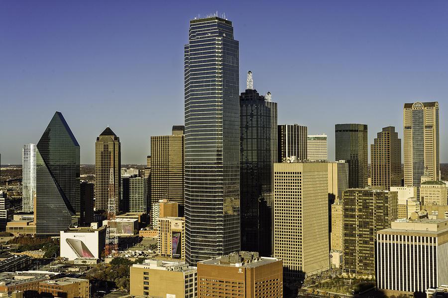 Dallas Skyline Golden Hour Photograph