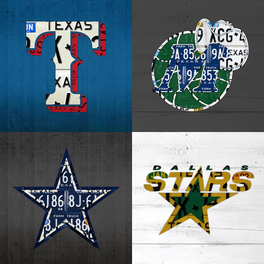Dallas sports fan recycled vintage texas license plate art rangers dallas mixed media dallas sports fan recycled vintage texas license plate art rangers mavericks cowboys kristyandbryce Choice Image