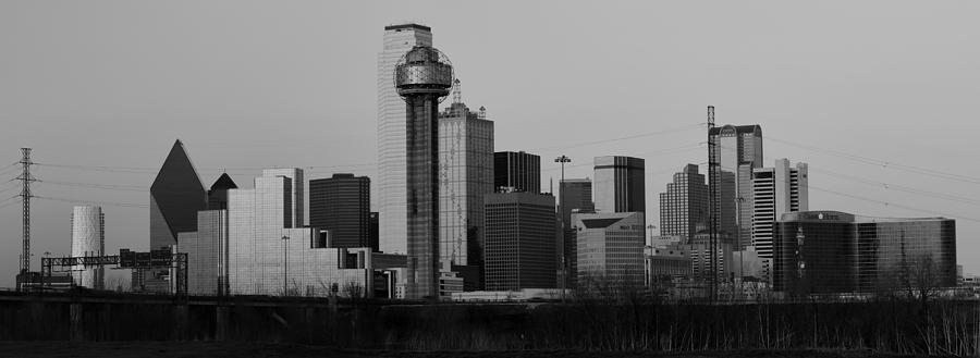 Dallas Trinity River Black And White Photograph