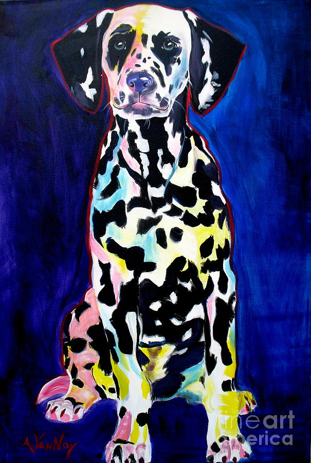 Dog Painting - Dalmatian - Polka Dots by Alicia VanNoy Call