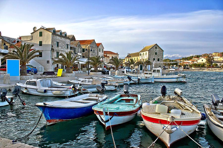 Dalmatian Town Of Primosten Harbor Photograph