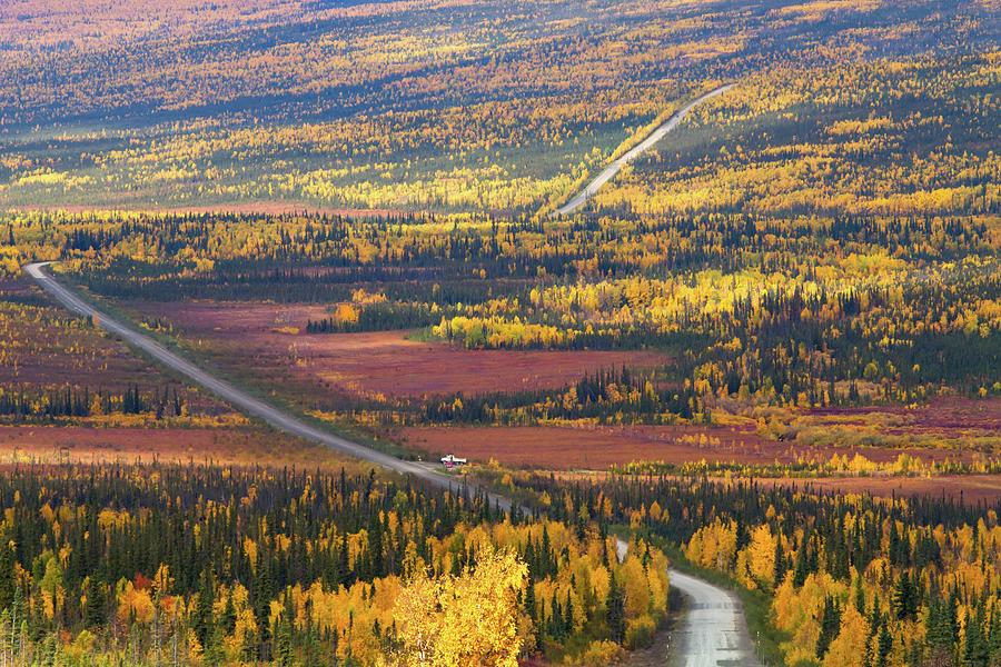 Dalton Highway In Autumn Season Photograph by Enn Li Photography