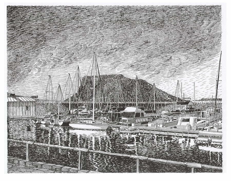 Dam Site Marina Elephant Butte Drawing