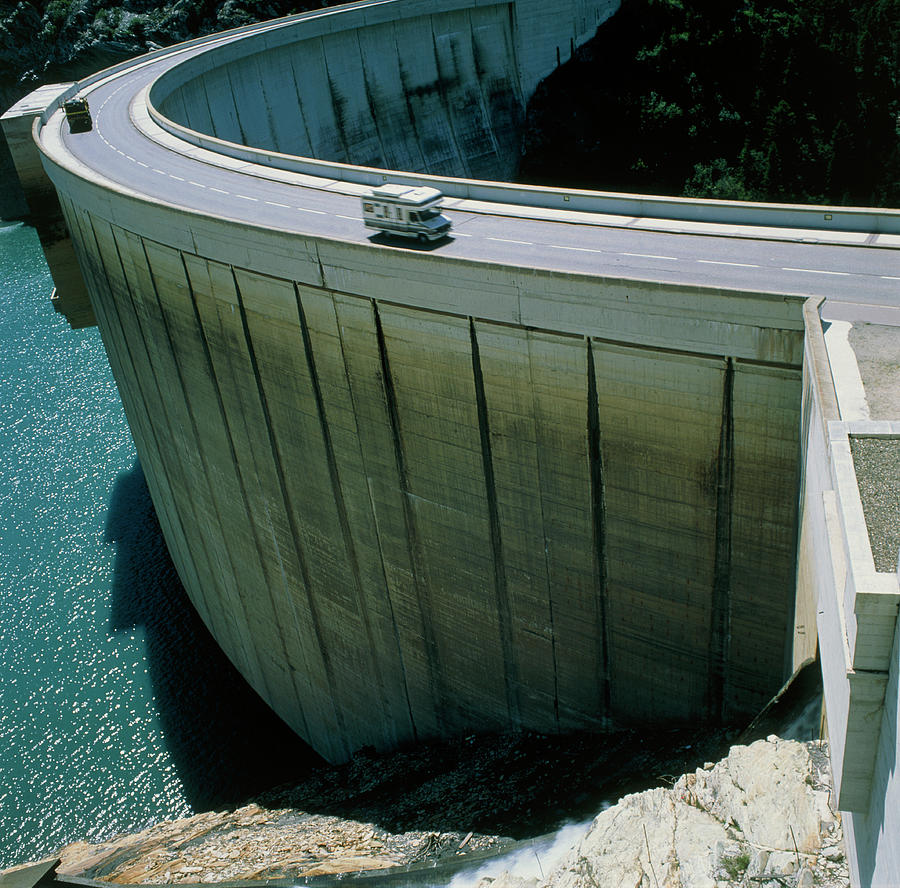 Reservoir Photograph - Dam Used For Hydroelectric Power Generation by Science Photo Library