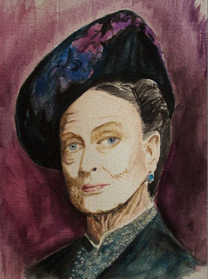 Maggie Smith Painting - Dame Maggie Smith by Amber Stanford