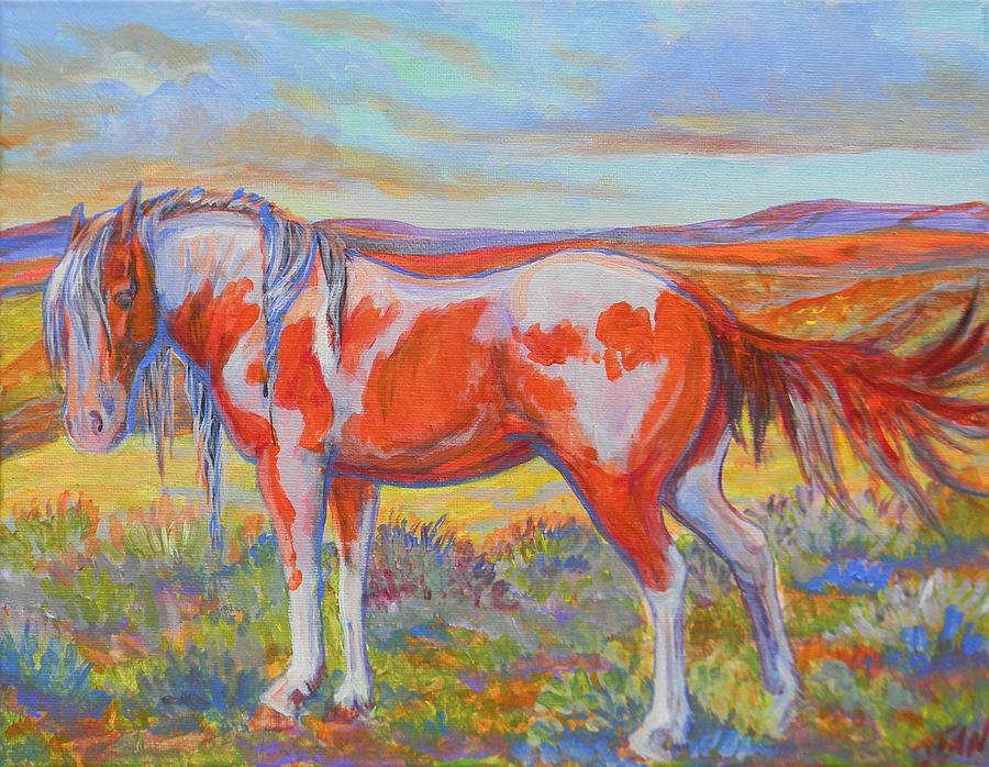 Horse Painting - Damn Flies by Jenn Cunningham