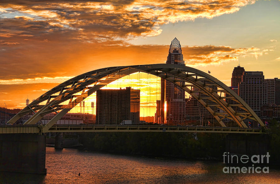 Cincinnati Ohio Photograph - Dan C Beard Bridge 9917 by Jack Schultz