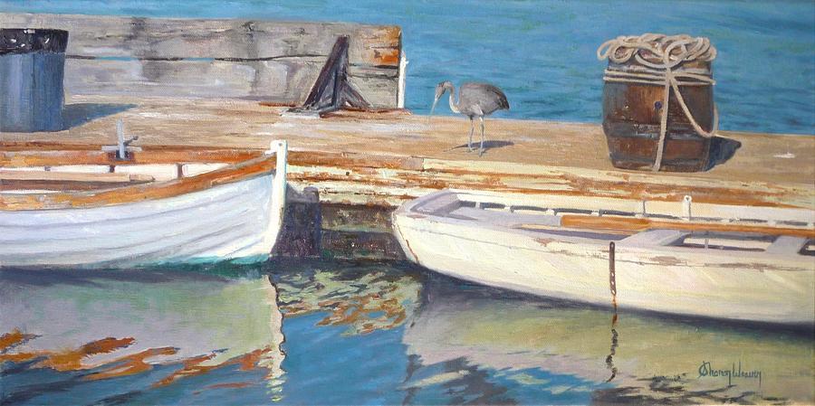 Dana Point Painting - Dana Point Harbor Boats by Sharon Weaver