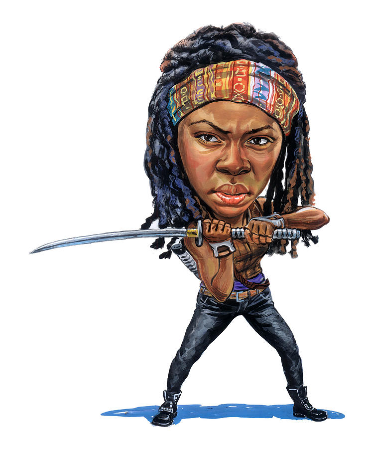 Michonne Painting - Danai Gurira As Michonne by Art