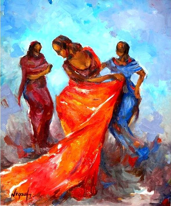 Landscape Painting - Dance 3 by Negoud Dahab