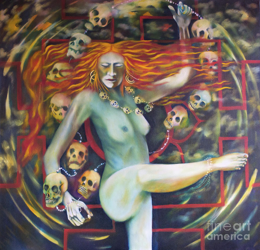 Dance for Kali Painting by Roger Williamson
