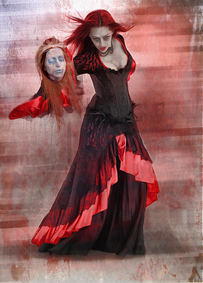 Vampire Digital Art - Dance Macabre by Hazel Billingsley