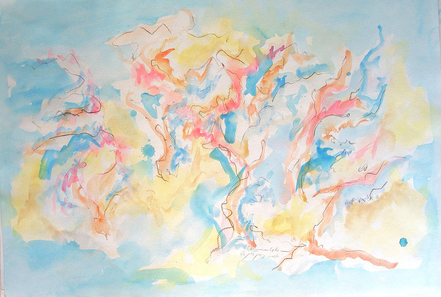 Trees Painting - Dance Of Olive Trees by Esther Newman-Cohen