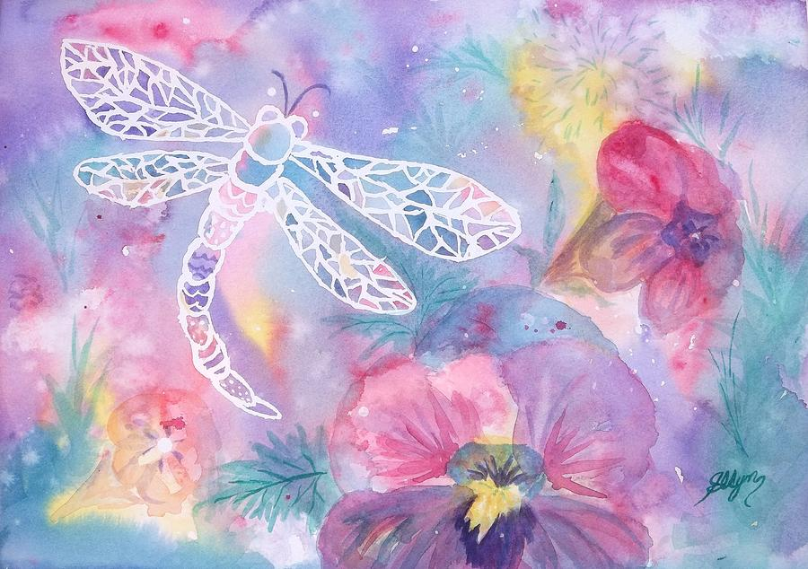 Dragonfly Painting - Dance Of The Dragonfly by Ellen Levinson
