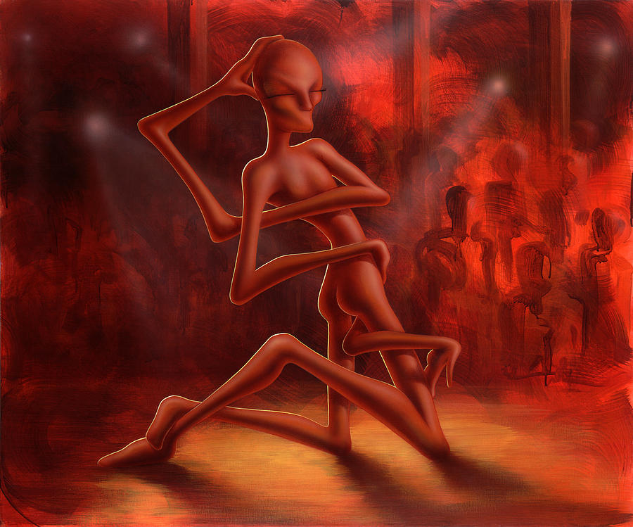 Dance Of The Medusa Painting by Achim Prill