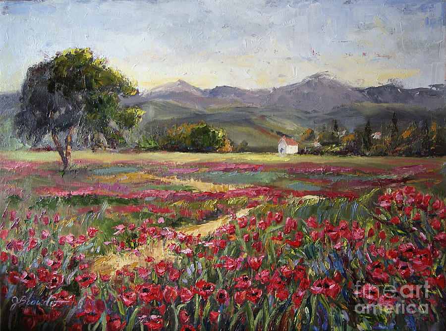 Field Of Tulips Painting - Dance Of The Tulips by Jennifer Beaudet