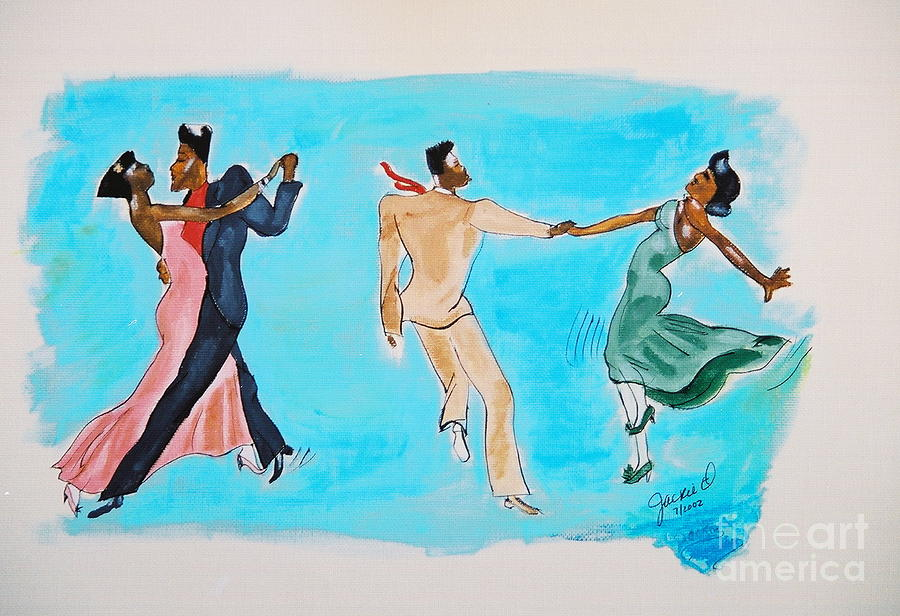 Lindy Hop Mixed Media - Dance Series 4of8 Lindy Hop2 by JackieO Kelley