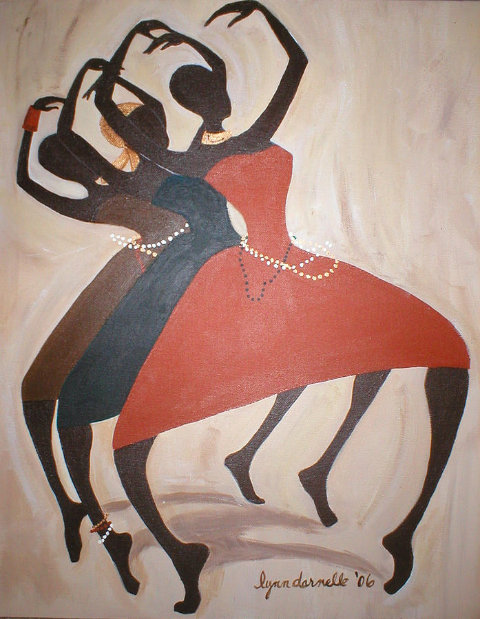 Dancers Painting - Dance Unto The Lord by Lynn Darnelle