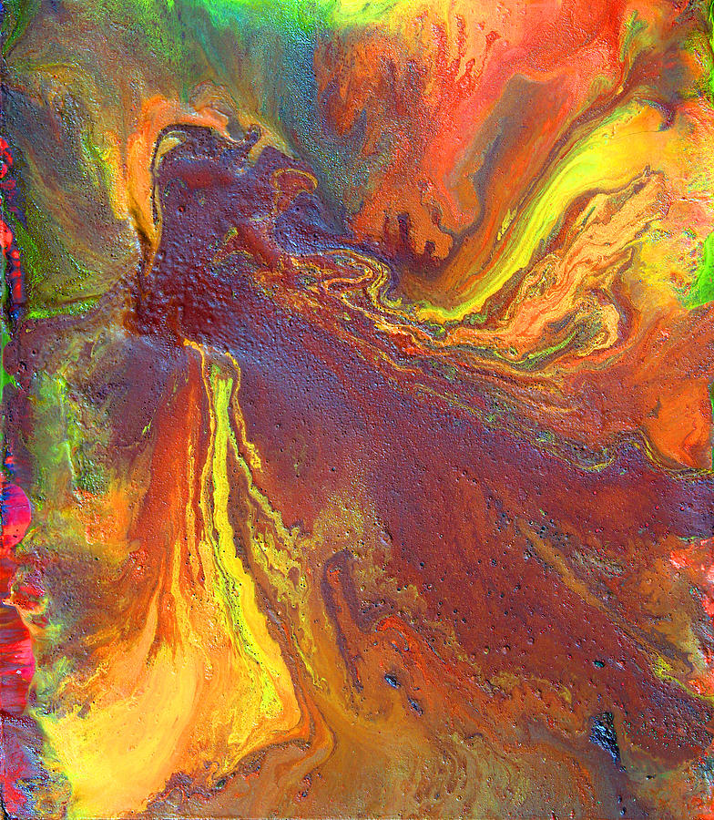 Abstract Painting - Dance With Colors by Julia Apostolova