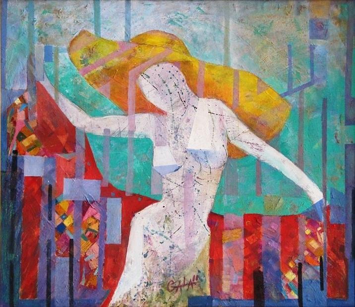Dance Painting - Dance With Me by GALA Koleva