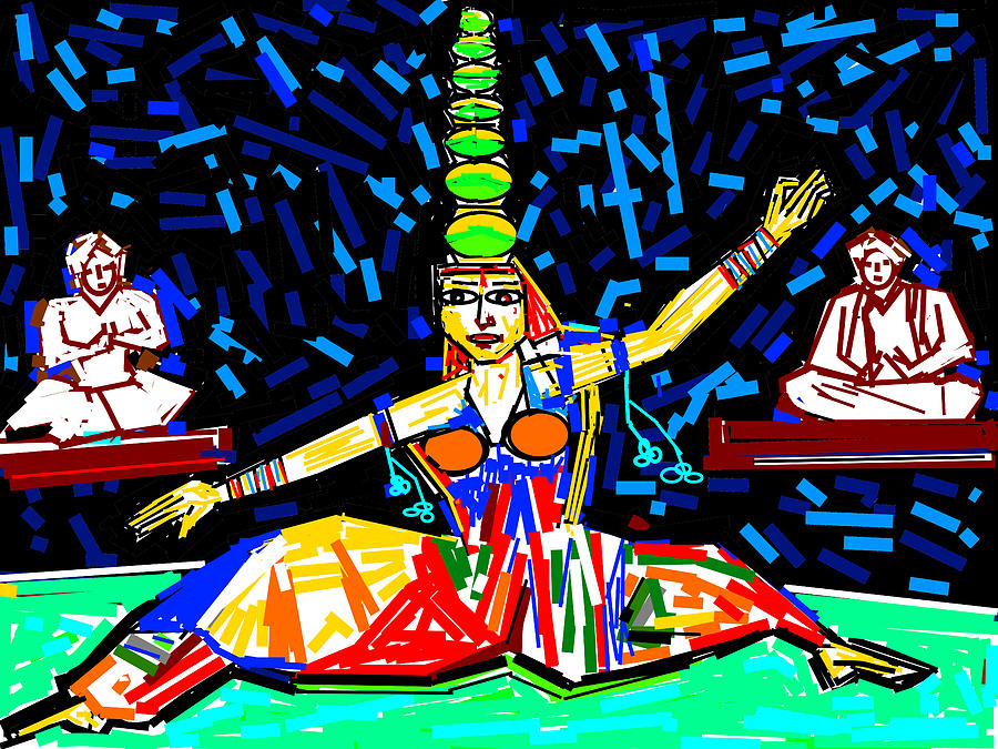 Flowers Digital Art - Dance With Pots by Anand Swaroop Manchiraju