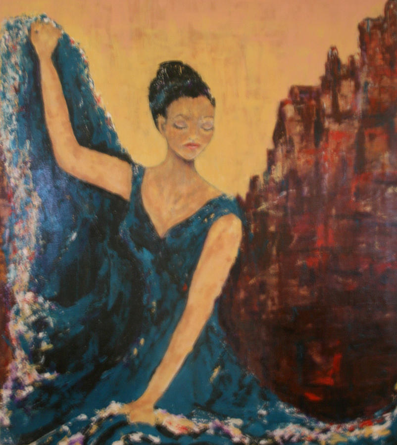 Dance Painting - Dance With Your Soul by Kathy Peltomaa Lewis