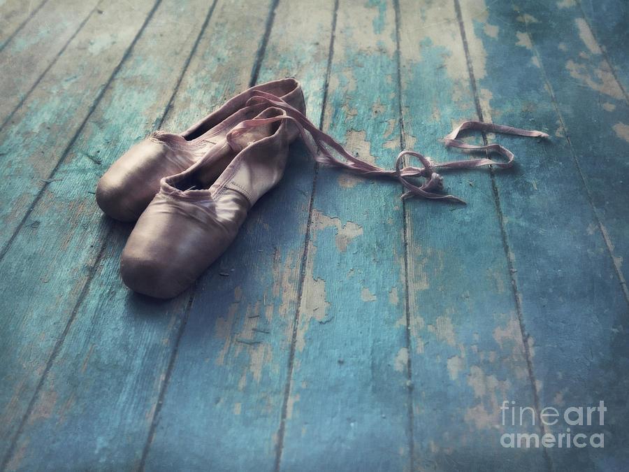 Pointe Shoes Photograph - Danced by Priska Wettstein