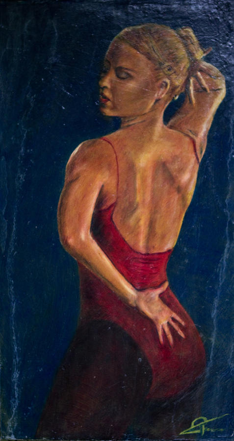 Dancer Painting - Dancer In Red by Peter Turner